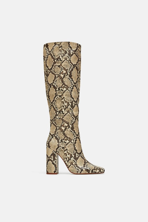 ee1e7ad2204 HEELED SNAKESKIN PRINT BOOTS - View all-WOMAN-SHOES