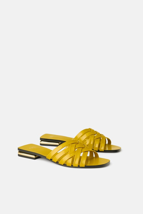 f71ef0d0e PATENT FINISH SLIDES - SHOES-TRF-SHOES & BAGS | ZARA United States