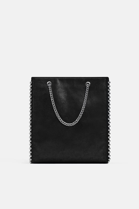 5993952856 STUDDED TOTE BAG - BAGS-WOMAN-NEW COLLECTION | ZARA United Kingdom