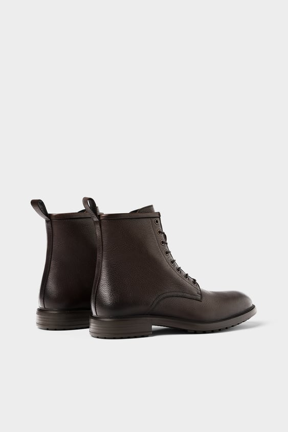 23f8bf62f6b Image 5 of LEATHER BOOTS - ZARA LIGHT from Zara