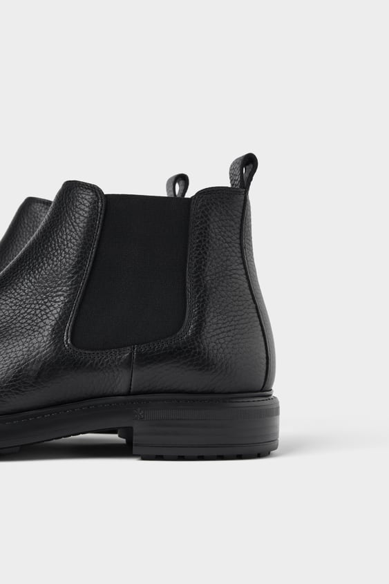 e34349a4924 BLACK LEATHER ANKLE BOOTS - ZARA LIGHT-Shoes   Bags-ALL TIME-MAN ...