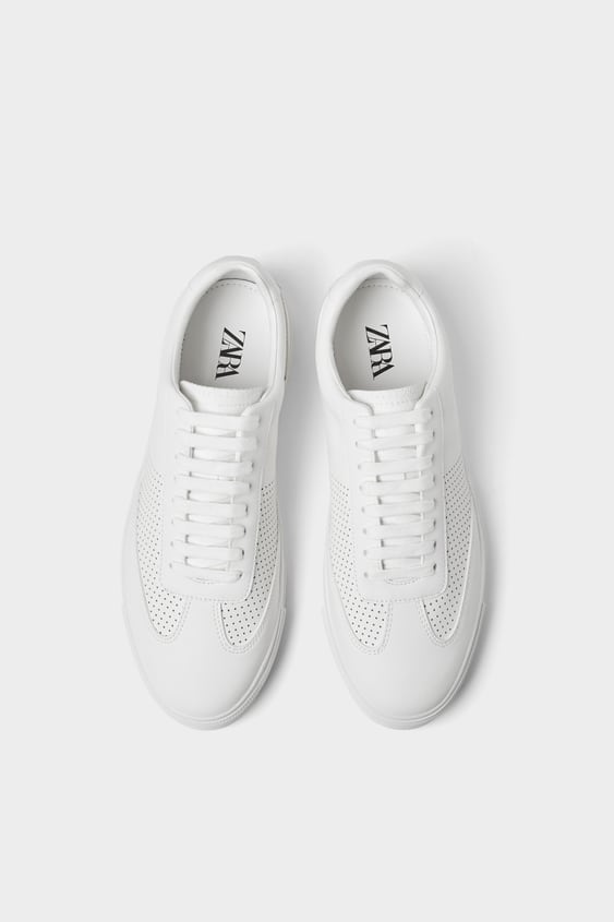 Micro Perforated Plimsolls View All Shoes Man by Zara