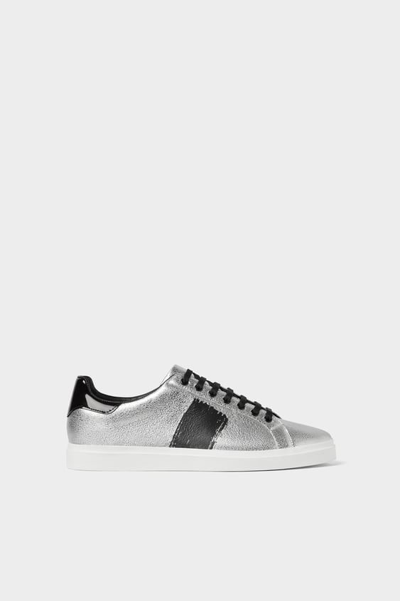 a6ad0451cd2 SILVER PLIMSOLLS - Sneakers-SHOES-MAN | ZARA Spain