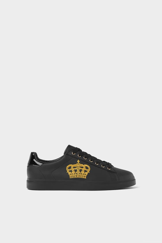e6f3cd37ee5 EMBROIDERED BLACK PLIMSOLLS - Special Sizes-SHOES-MAN