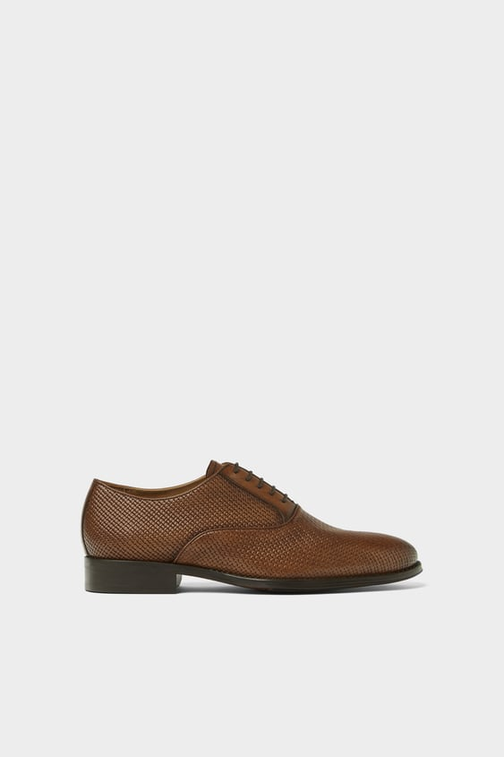 Embossed Leather Shoes Shoes Man Shoes Bags Zara Spain