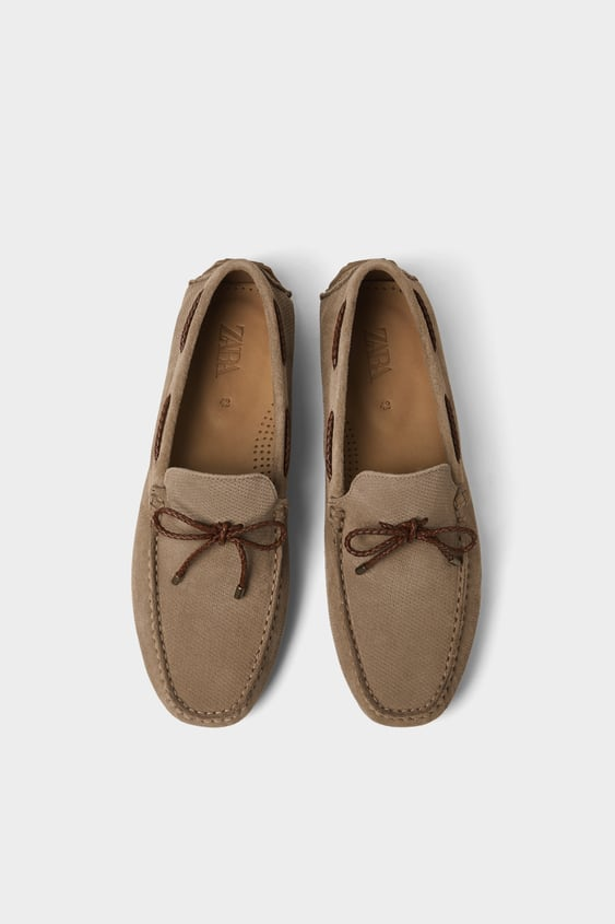 Embossed Driving Moccasins  Shoes Basics Man by Zara