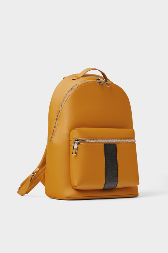 77b94772a81 YELLOW BACKPACK WITH STRIPE - JOIN LIFE-MAN-CORNER SHOPS-SALE | ZARA ...
