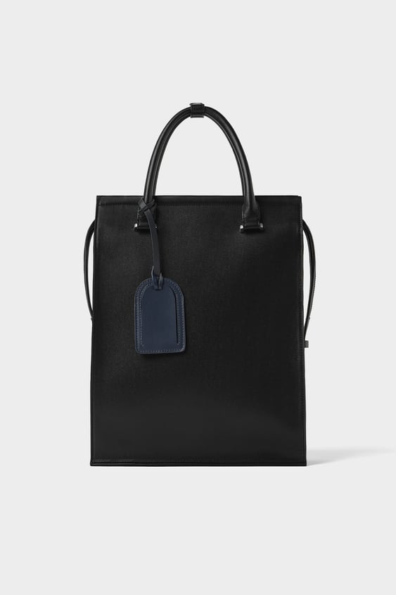 Convertible Tote Bag  View All Bags Man New Collection by Zara