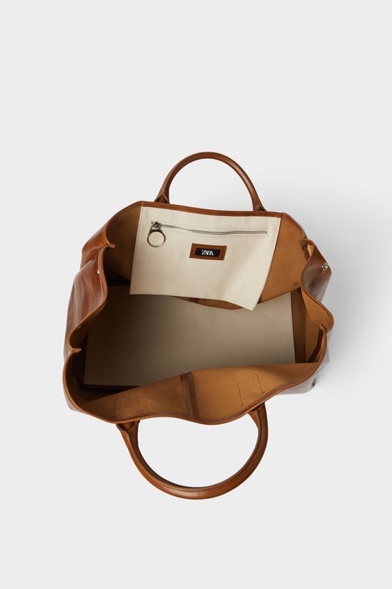 cffa63c4 BROWN SMART LEATHER TOTE BAG