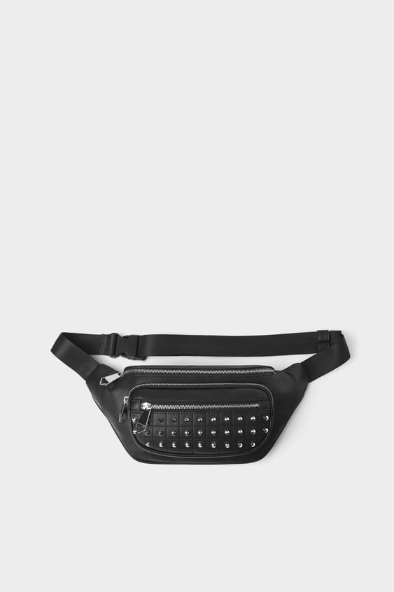 d9ba7f4a562 BLACK BELT BAG WITH STUDS - View All-BAGS AND BACKPACKS-MAN
