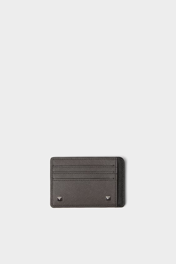 a43adee6b1 TWO-TONE STUDDED CARD HOLDER