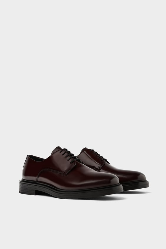 ba64e508c61 GLOSSY FINISH LEATHER SHOES - Collection-ALL TIME-MAN-CORNER SHOPS ...