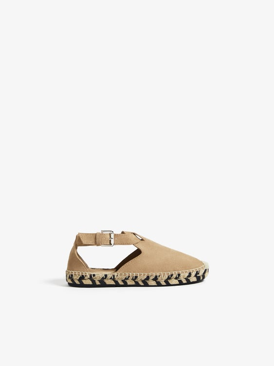 online here retail prices new collection LEATHER JUTE SANDALS - Flat Shoes-SHOES-GIRL | 5 - 14 years-KIDS ...
