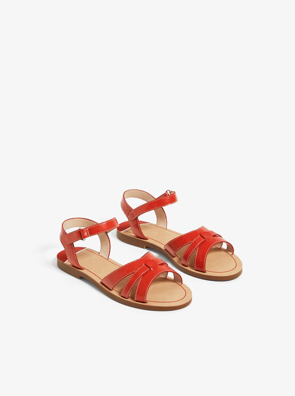 Image 3 of COLOURFUL LEATHER SANDALS from Zara