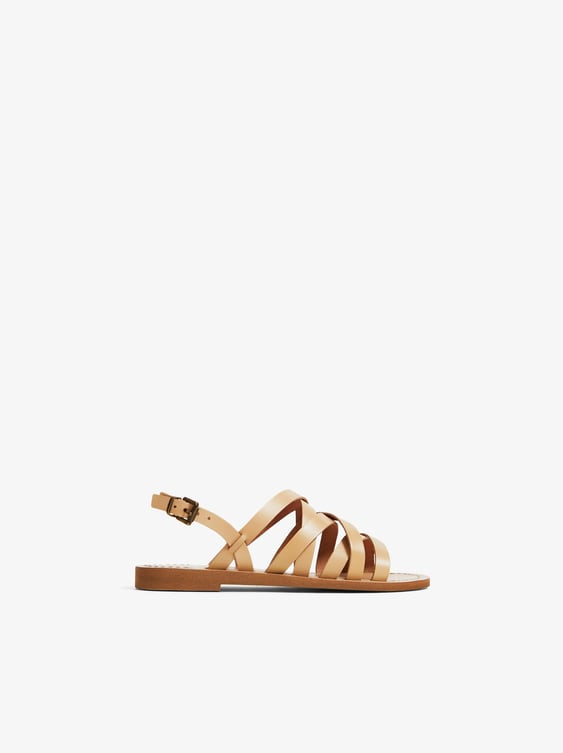 6e67deab59c STRAPPY LEATHER SANDALS