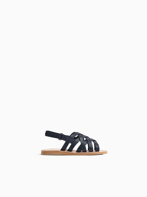 079fefdf58a LEATHER STRAPPY SANDAL