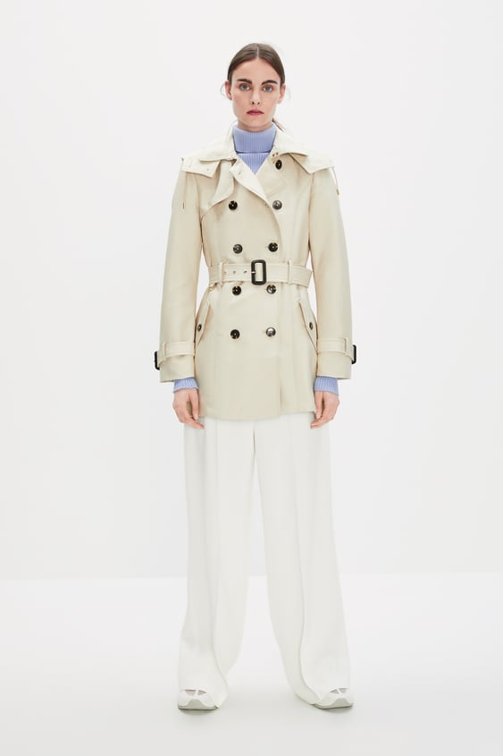 ecfd2b8e WATER - RESISTANT TAILORED TRENCH COAT-Trench coats-OUTERWEAR-WOMAN ...