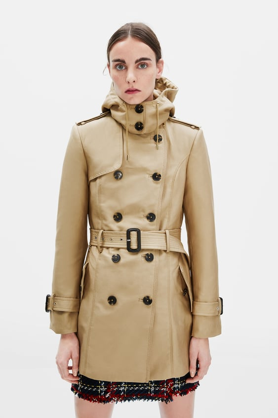 1289cdf6 WATER RESISTANT BELTED TRENCH COAT - Trench coats-OUTERWEAR-WOMAN ...