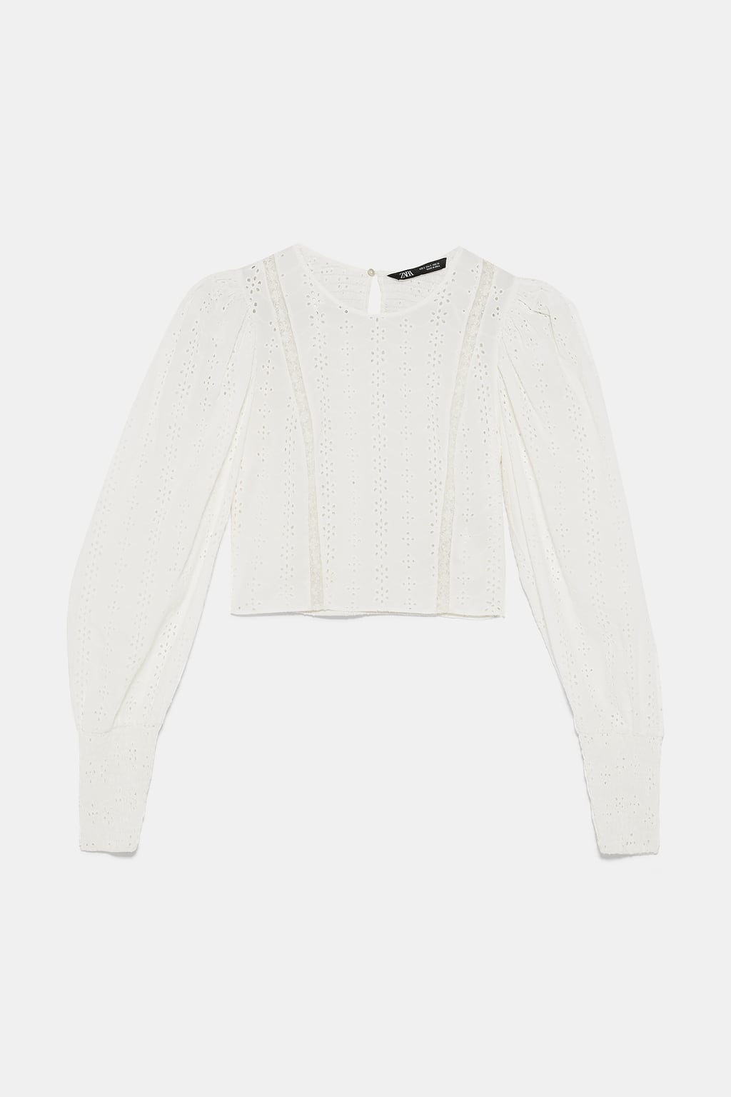 f5fc81a4 SHIRT WITH CONTRASTING CUTWORK EMBROIDERY-TOPS-WOMAN-SALE | ZARA ...