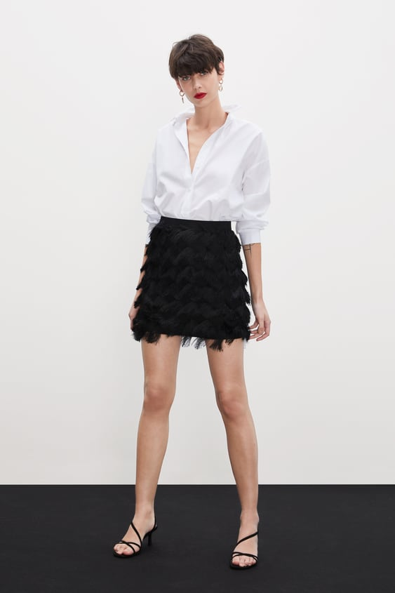 33459290cd KNIT SKIRT WITH FRINGING - View all-SKIRTS-WOMAN-SALE | ZARA Australia