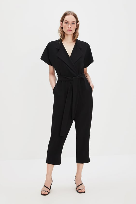 Wrap Jumpsuit With Belt  View All Dresses Woman by Zara