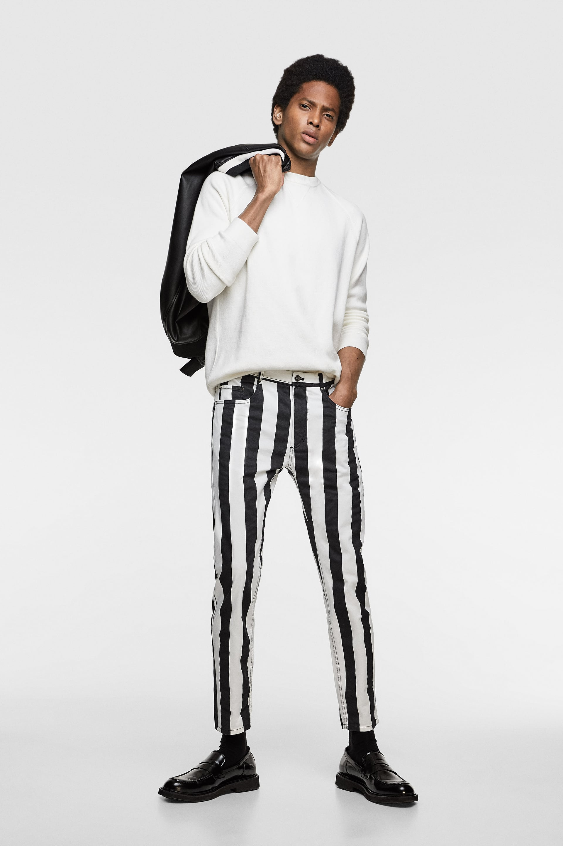 9903a793 VERTICAL STRIPED PANTS - View all-PANTS-MAN | ZARA Paraguay