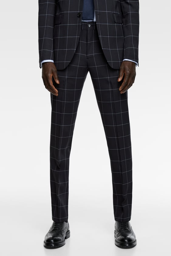 a36b747bd4 COOLMAX® CHECK SUIT TROUSERS - Tailored-PANTS-MAN | ZARA New Zealand