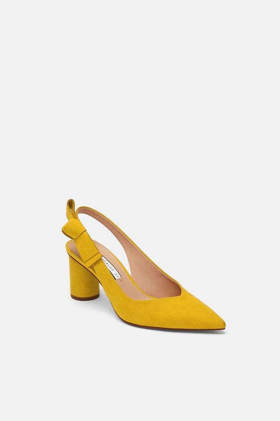 c2d533204cd Image 4 of HIGH HEEL SHOES WITH BOW DETAIL from Zara
