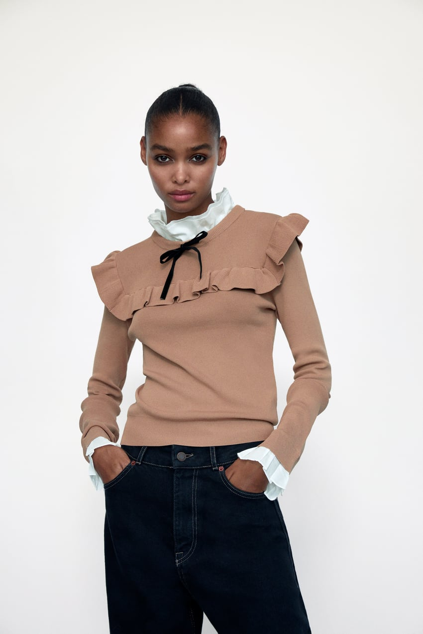 Image 2 of COMBINATION KNIT SWEATER from Zara