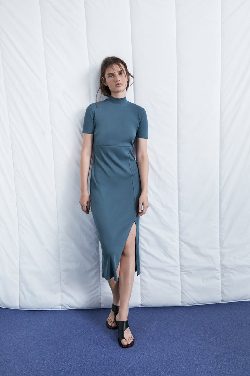 vestido rib Zara