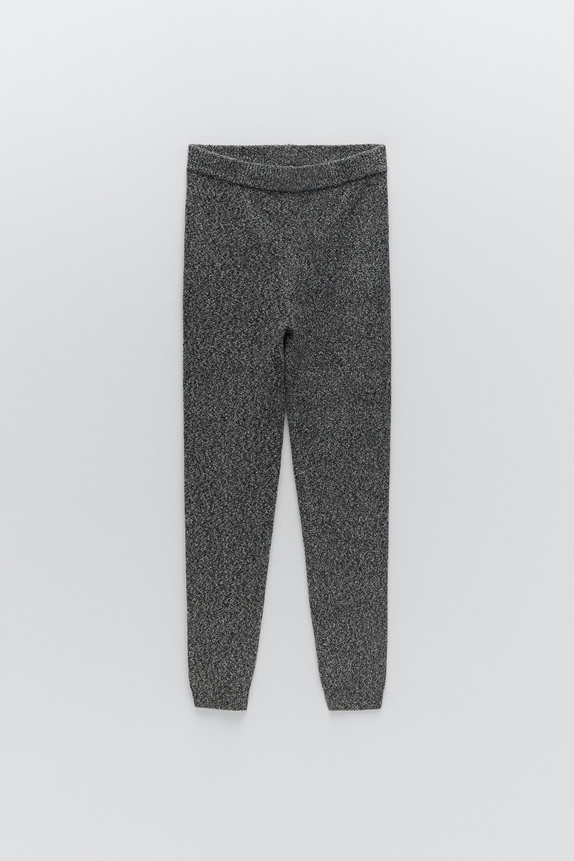 Image 4 of KNIT LEGGINGS from Zara