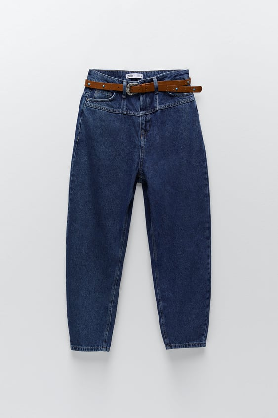 Z1975 Slouchy Belted Jeans Zara United States