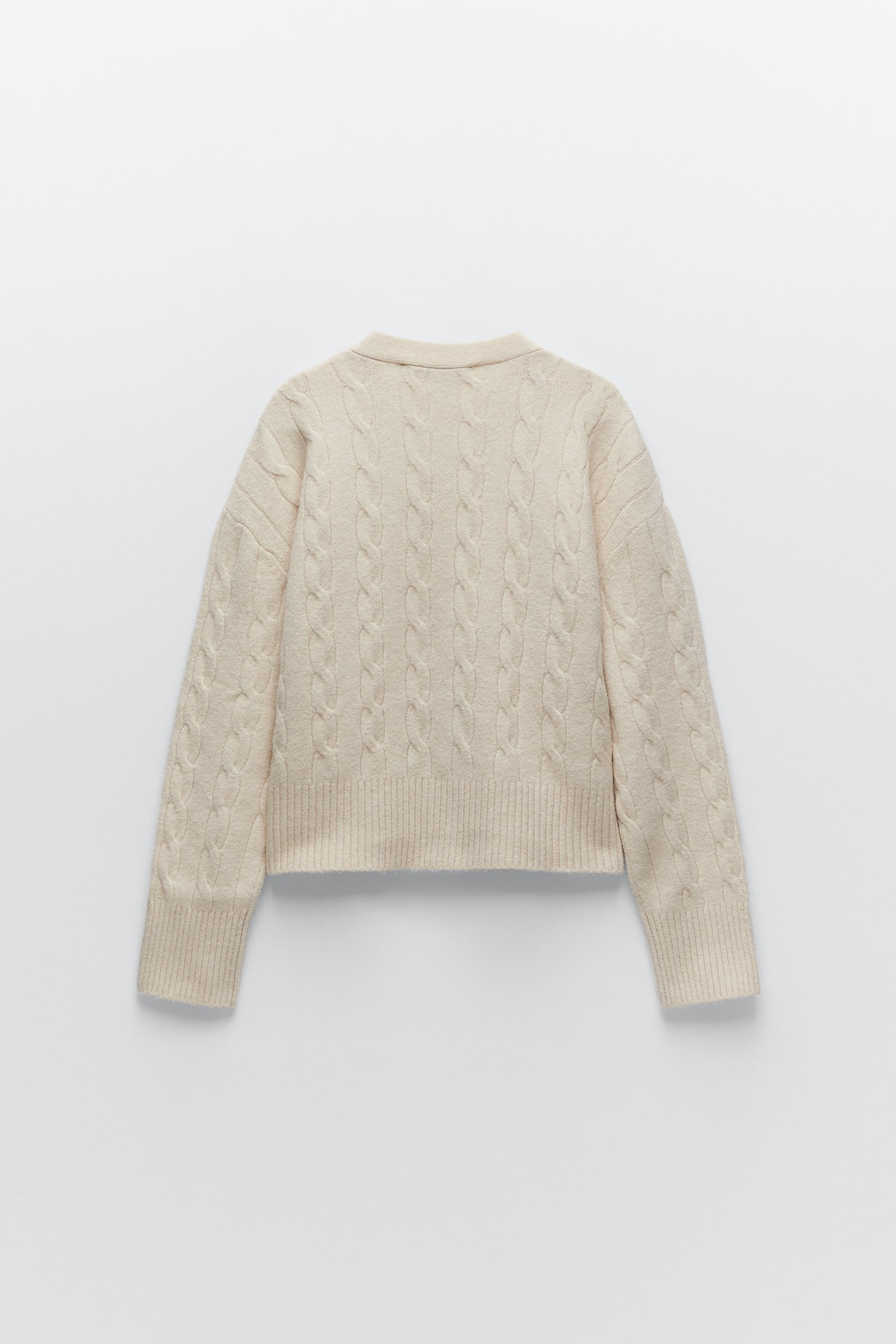 4331//010 ECRU Details about  /ZARA BNWT CABLE-KNIT CARDIGAN ALL SIZES REF