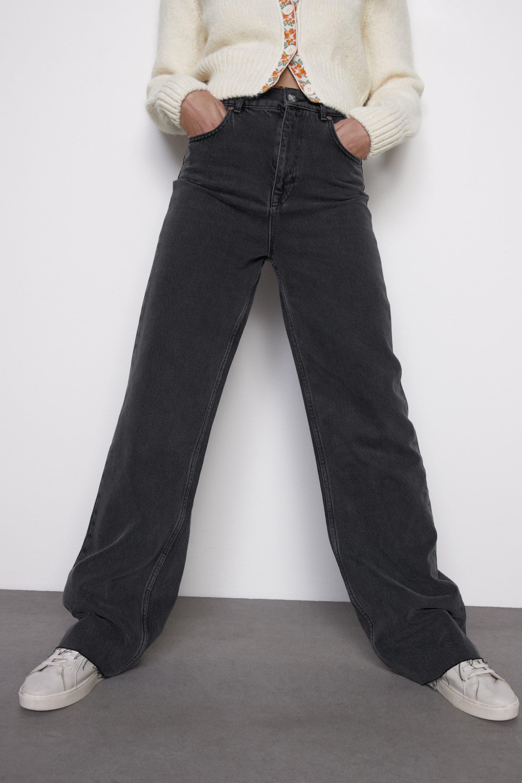 Jeans Zw Premium 90s Full Length Sonora Black Zara Espana