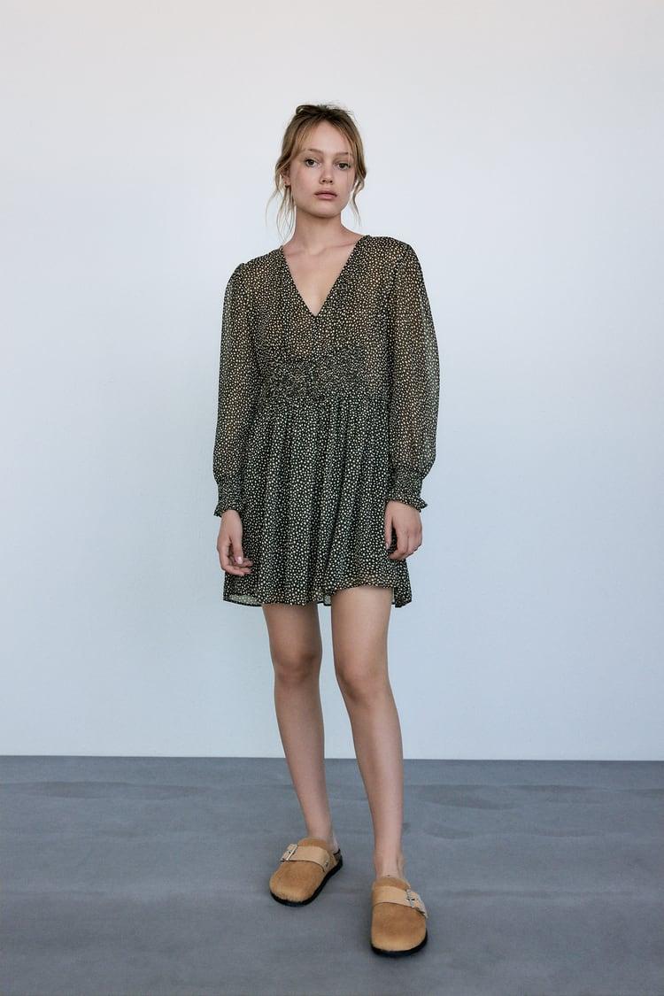 Image 0 of PRINTED MINI DRESS from Zara