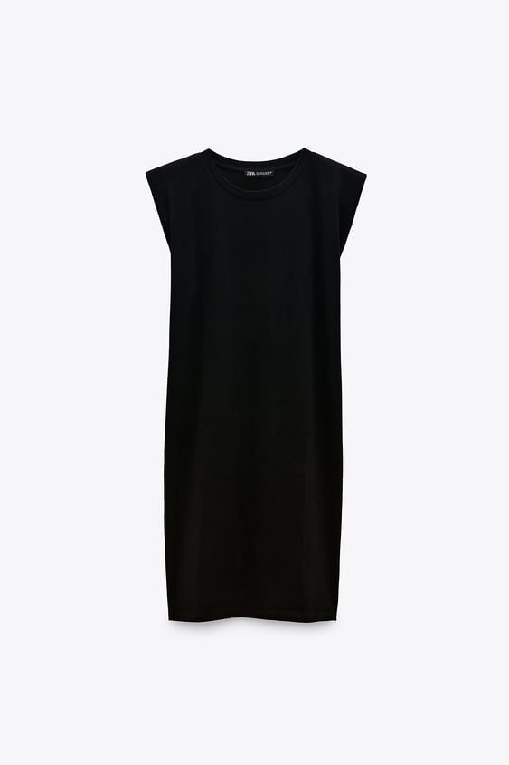 DRESS WITH SHOULDER PADS TRF