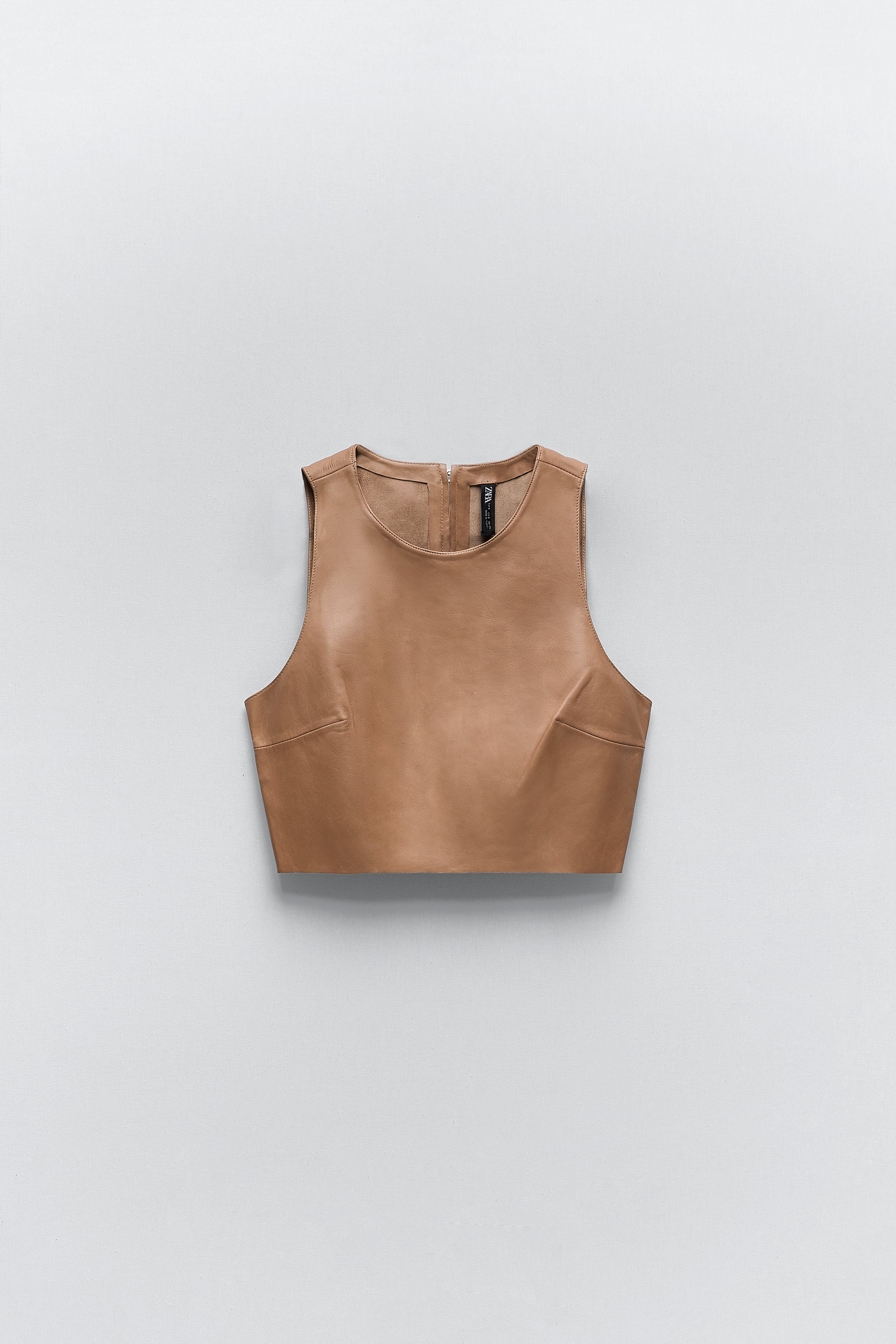 Image 3 of LEATHER TOP from Zara