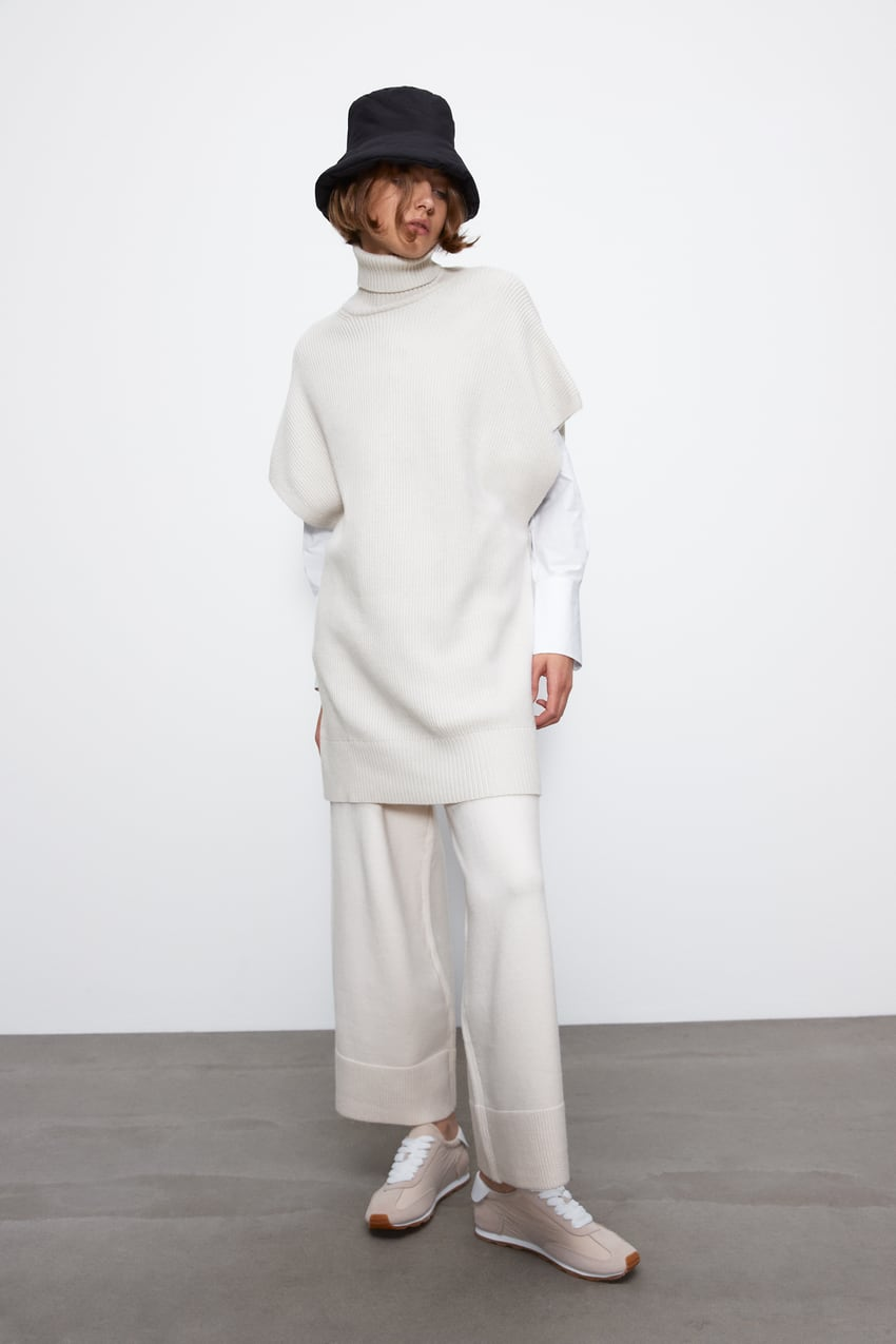 Image 1 of OVERSIZED KNIT VEST from Zara