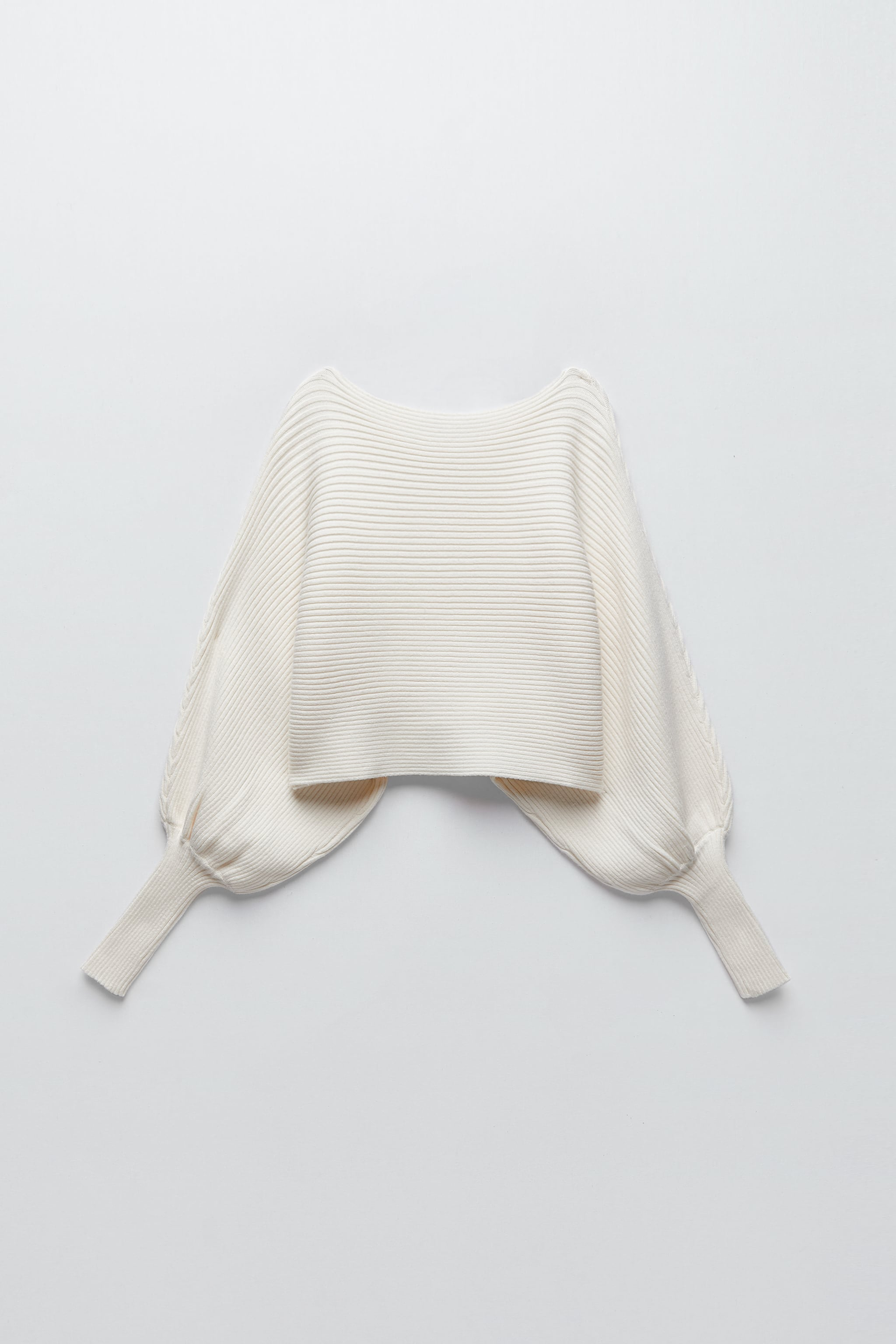 KNIT SWEATER WITH LOOSE-FIT SLEEVES zara