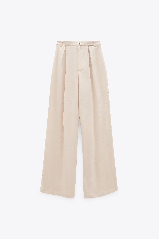 Pantalon Fluide A Jambes Larges Zara France