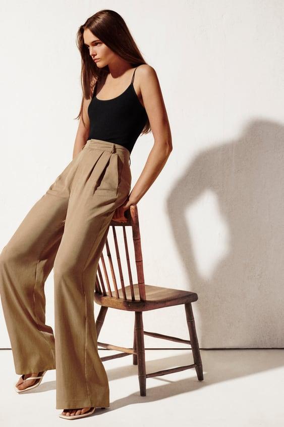 الحيض مختص بمجال علمي رخصة Pantalon Large Femme Zara Dsvdedommel Com