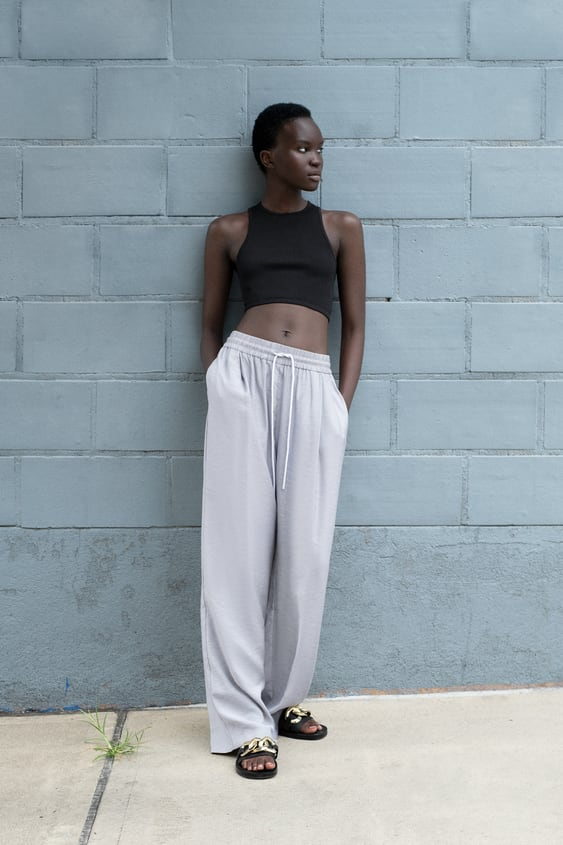 OVERSIZED TROUSERS WITH DRAWSTRINGS TRF