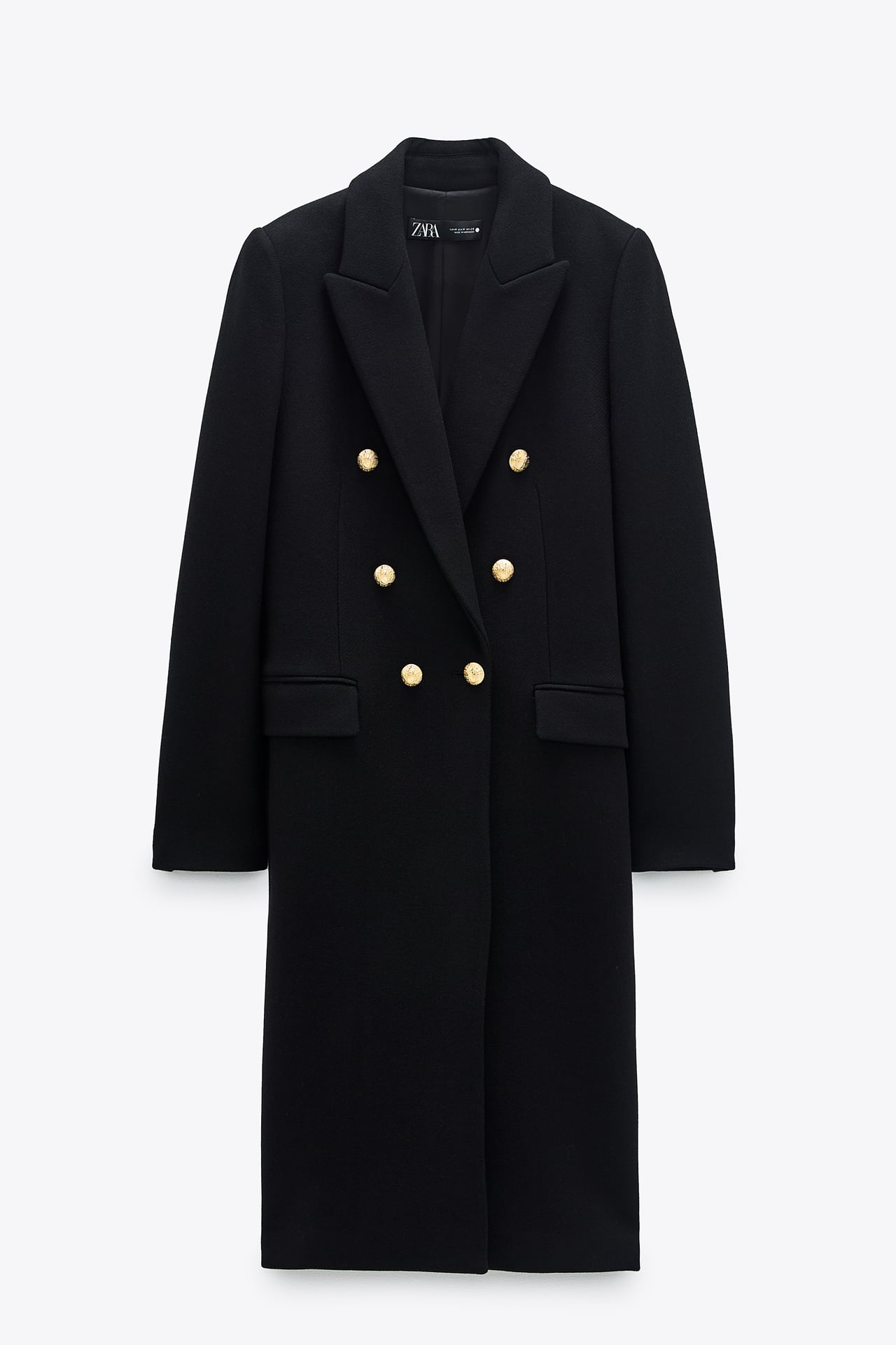 COAT WITH METAL BUTTONS
