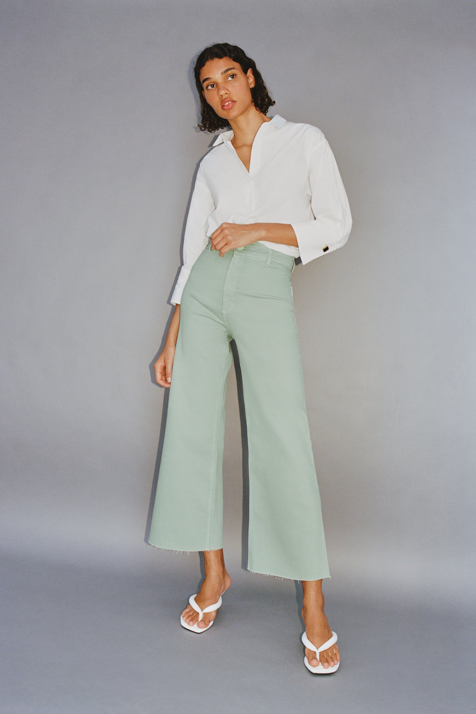 Zw Premium Marine Straight Jeans Zara United States