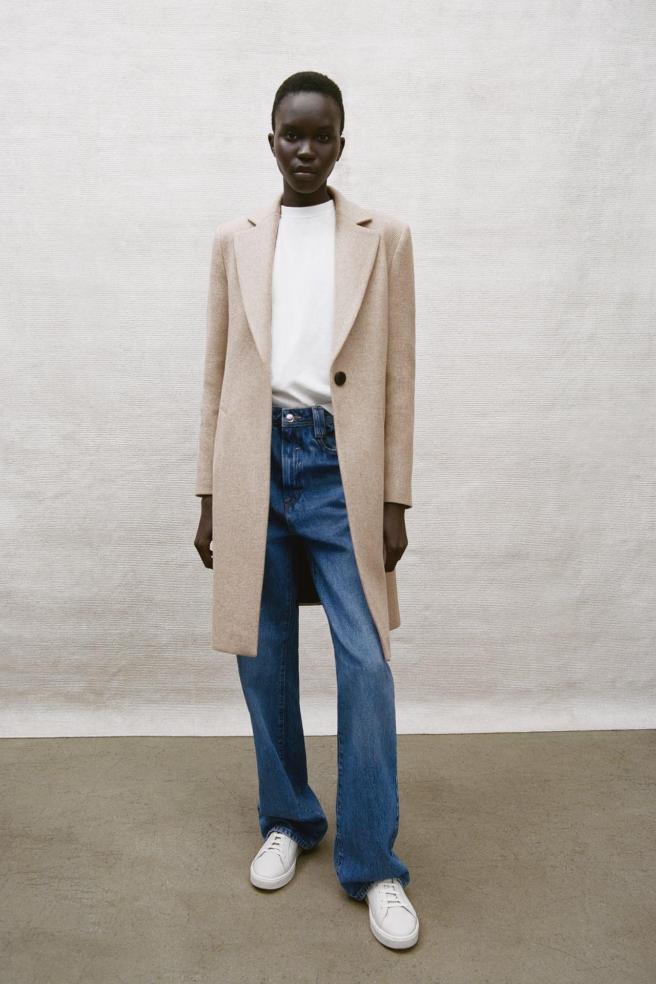 Image 1 of WOOL BLEND COAT from Zara