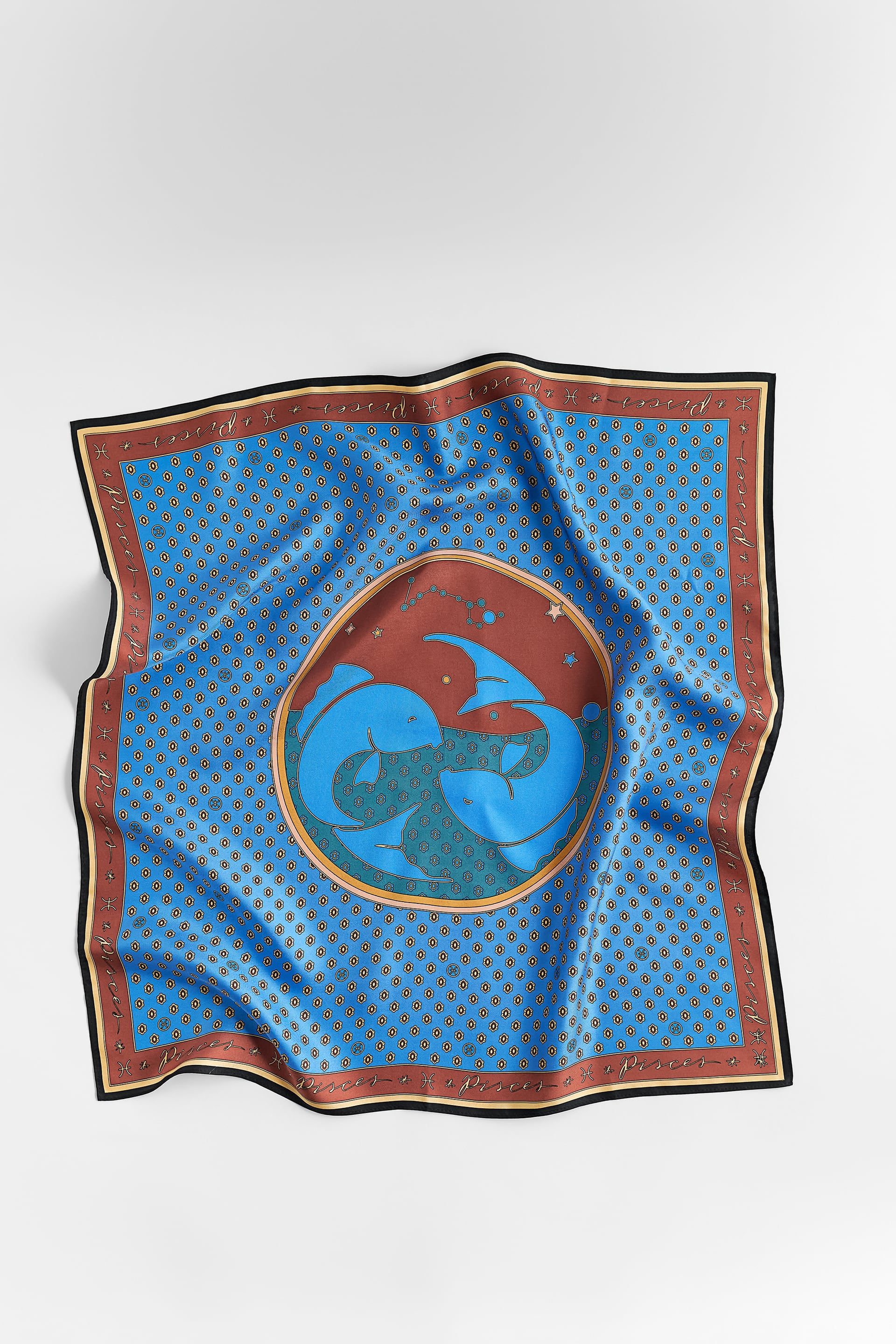 Image 3 of PISCES SILK SCARF from Zara