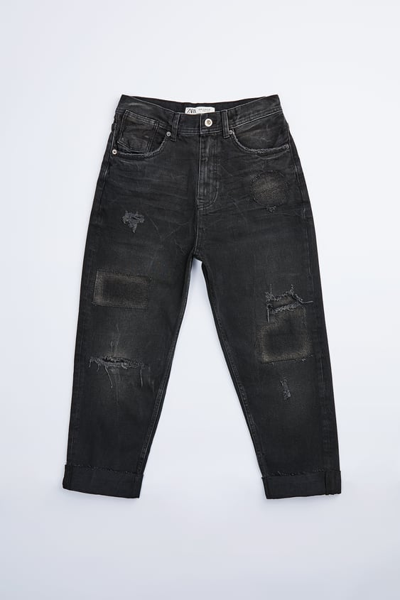 LOOSE FIT JEANS WITH PATCHES