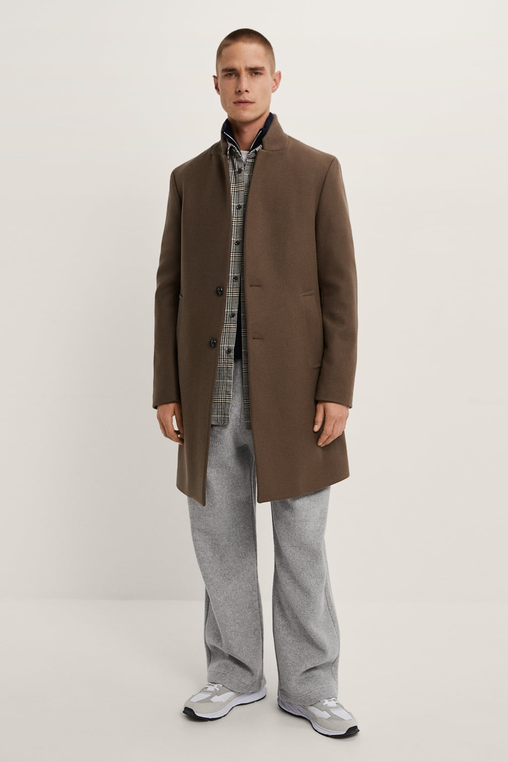 The Best Overcoats to Wear During Autumn Winter | Inverted lapel collar from Zara