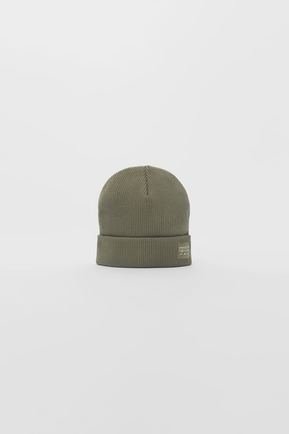 RIBBED COTTON BEANIE