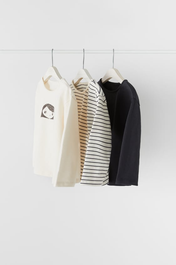 3-PACK OF PRINTED T-SHIRTS